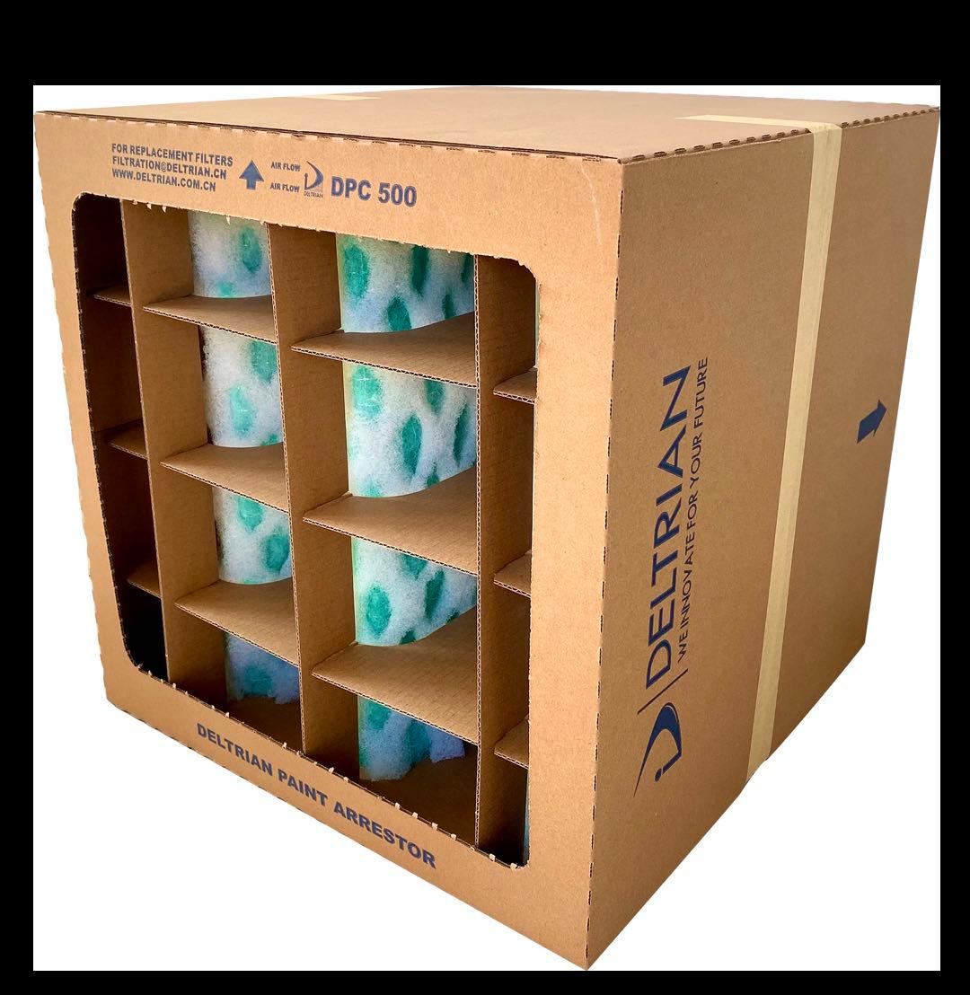 干式喷漆房风速设计对干式漆雾过滤纸盒寿命的影响